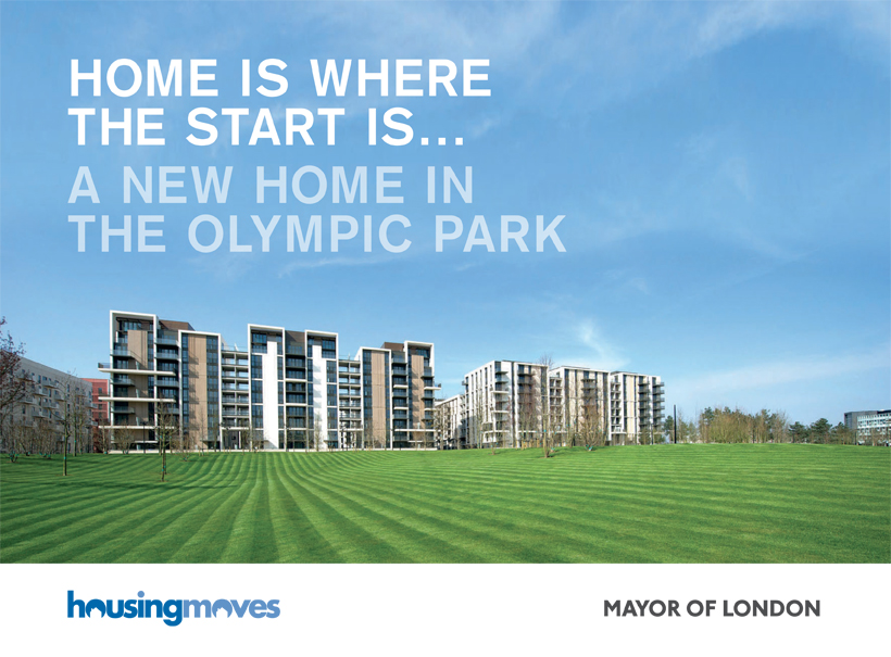 london 2012, olympics, branding, brochure design, mayor of london, housingmoves, public sector, local government design agency, norwich