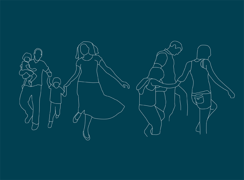 family law, branding, illustration, solicitors, design agency, norwich, line drawing