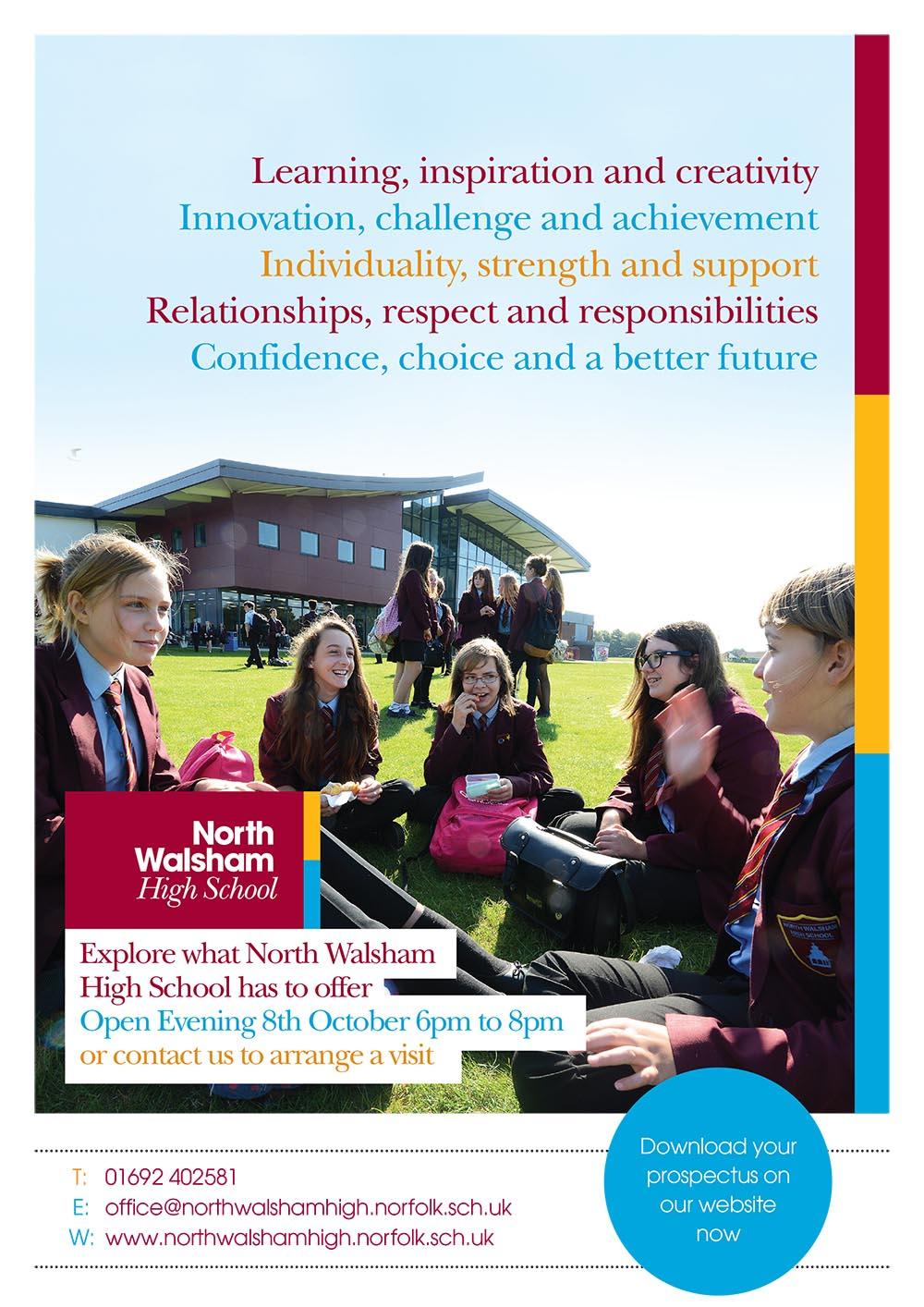 prospectus design for north walsham high school