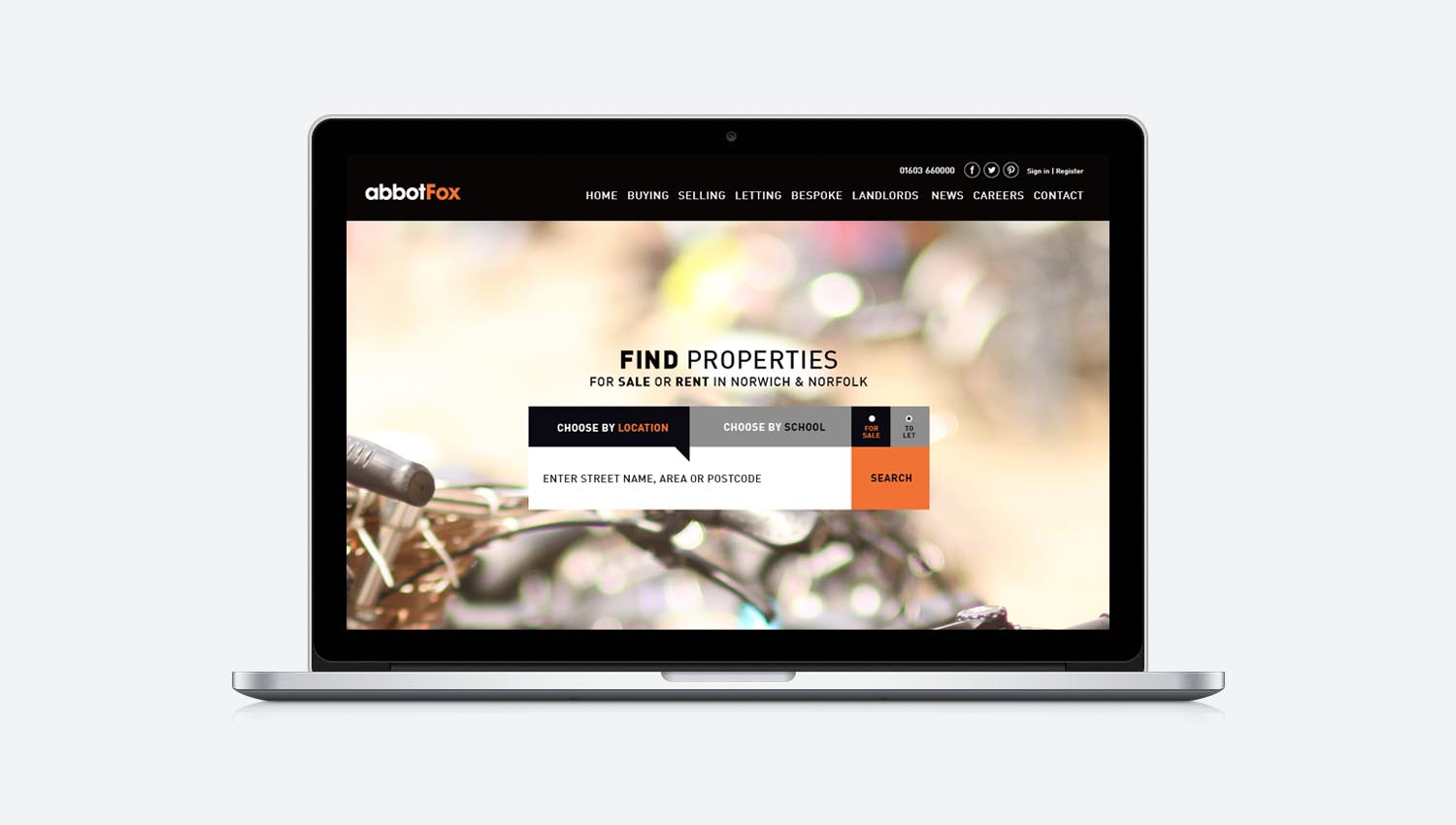 norwich based responsive web design, abbot fox, estate agent, norwich