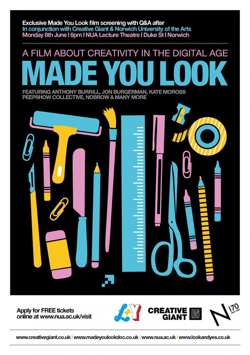 made you look, film documentary, norwich screening, nua, creative giant, norwich design agency, art school, illustration, graphic design