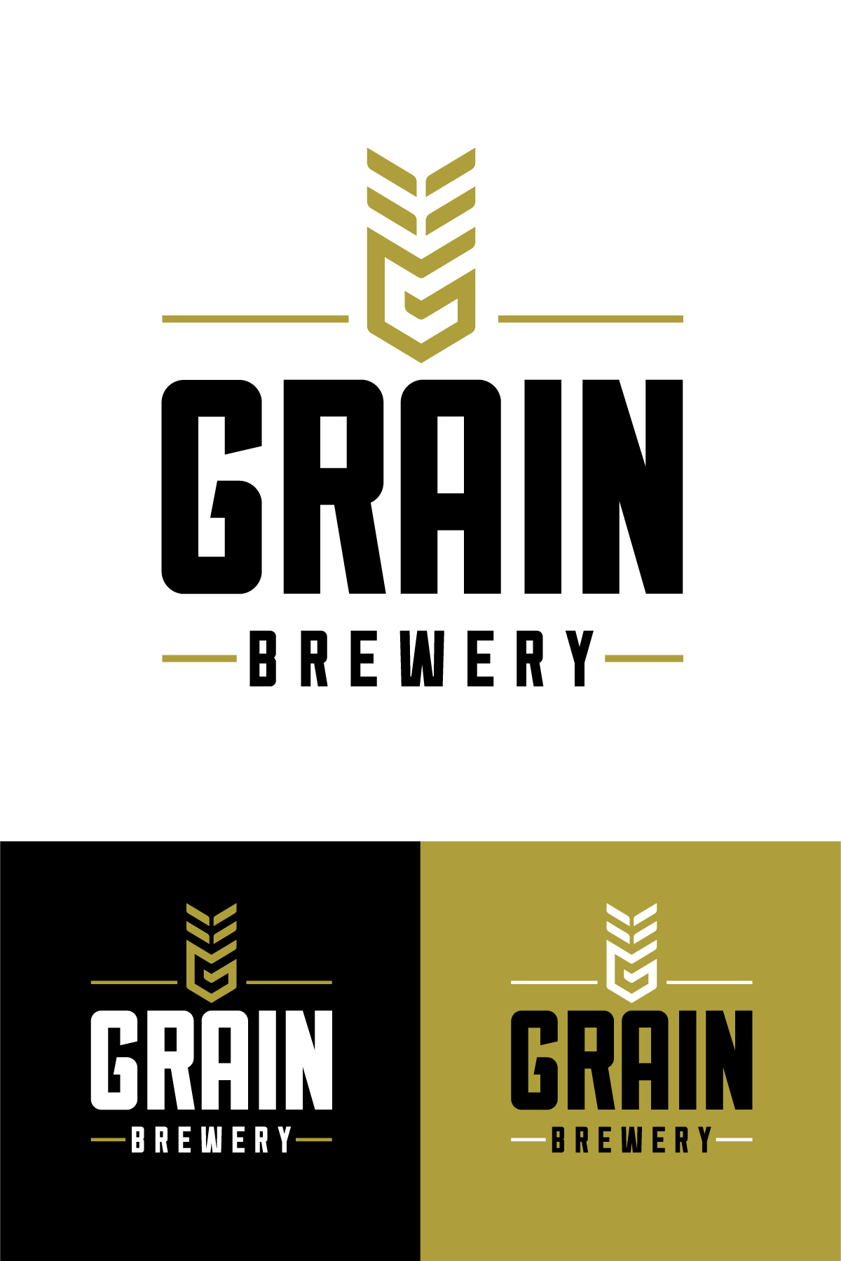 Grain Brewery Logo Design Brand Develeopment Branding Visual