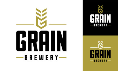 Grain brewery logo design brand strategy branding visual for Craft beer logo design