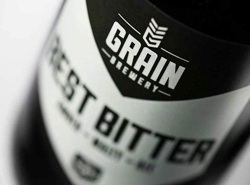 craft beer logo, craftbeer brand, logo design norwich, grain brewery, craft beer branding, beer brands, design studio norwich, norwich design agency, creative agency, label design