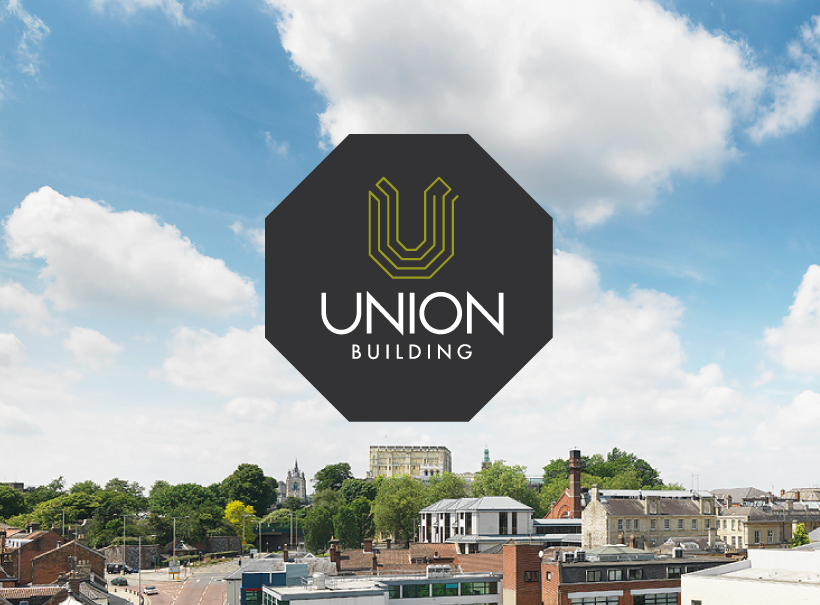 union building, norwich, skyline, rooftop, view, logo design, brand, branding project, visual identity, office space to let norwich