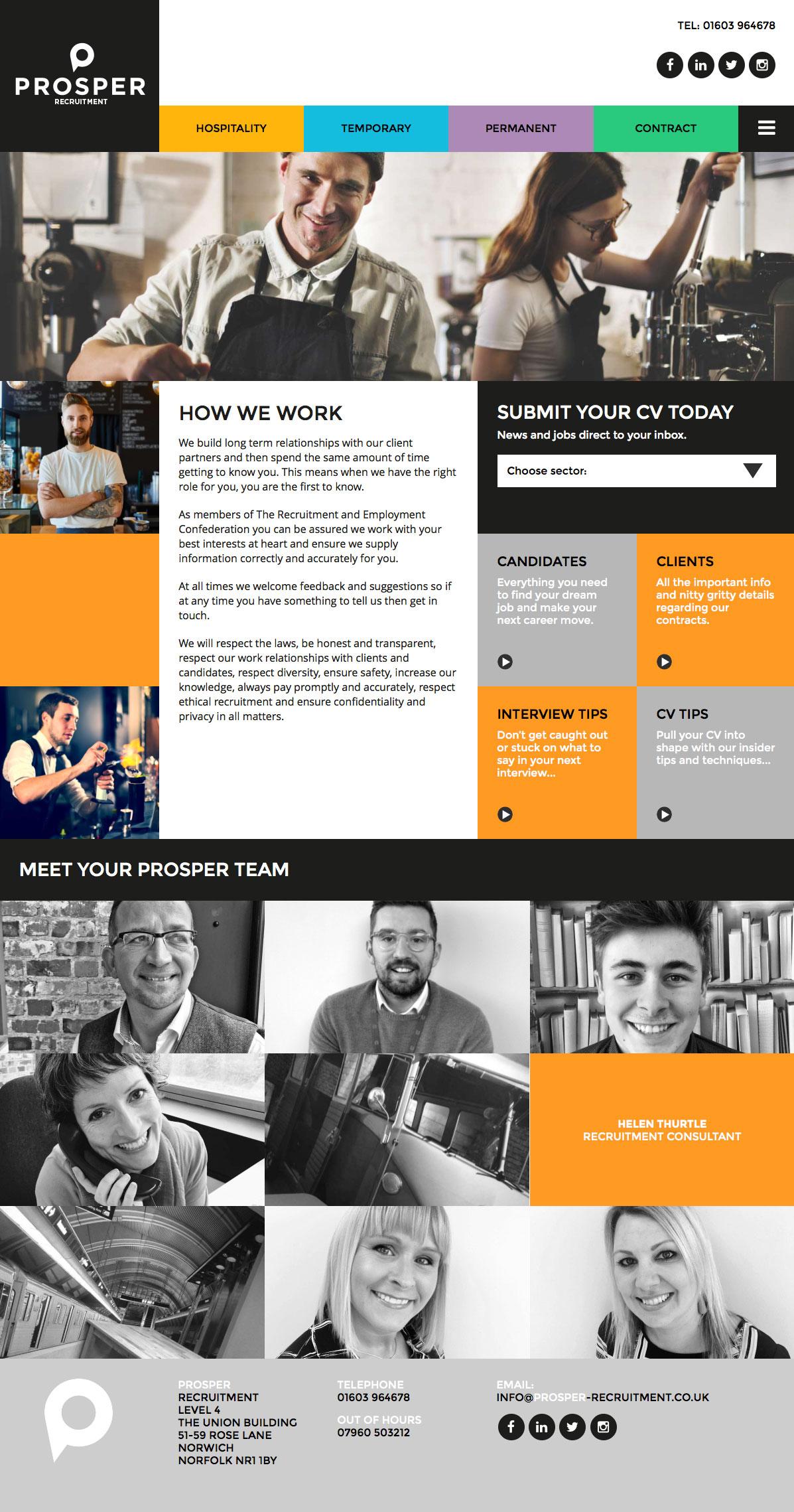 Branding logo and website design for norwich recruitment for Design recruitment agencies